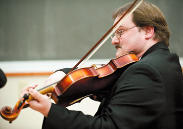 John Berry playing violin